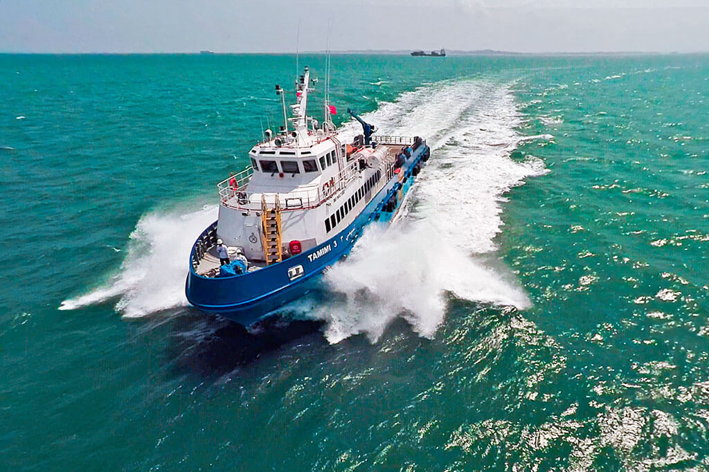 Aerial videography for marine vessel, Tuckys Photography