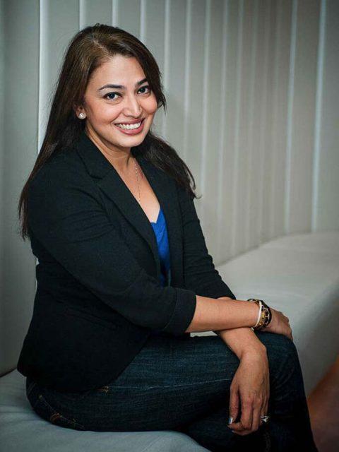 Environmental shoot of Female VP APAC, Sunita Kaur, Spotify for media release in singapore, tuckys photography