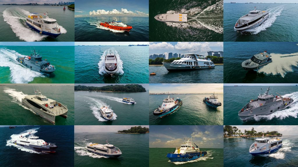 Aerial UAV photography and videography for commercial marine ship, boat and vessels in singapore