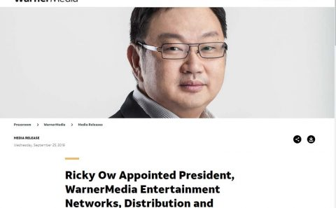 Corporate portrait photography for male president of Warnermedia | Singapore professional photographer, Tuckys Photography