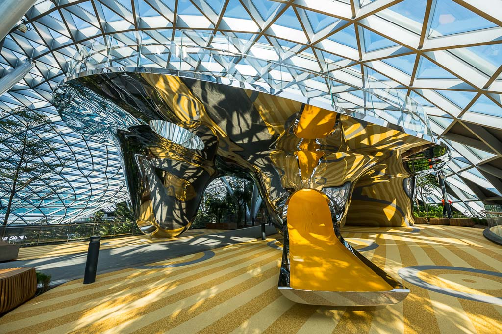 architecture photography for interior playground at changi airport by tuckys