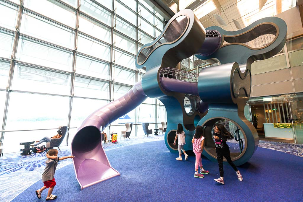 commercial architecture photography for interior playground at T3 changi airport by tuckys