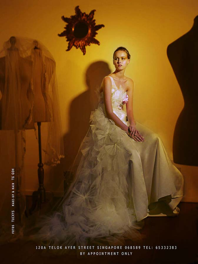 Editorial fashion portrait photography for a bridal boutique, Tuckys Photography