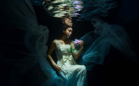 underwater fashion portrait, tuckys photography
