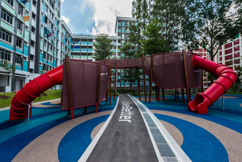 Architecture photography with playground in singpapore | tuckys photography