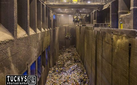 Interior photography of refuse bunker with NEA, tuckys photography