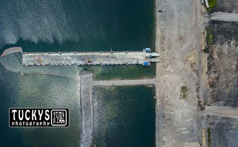 aerial photography by singapore industrial photographer for construction process, by tuckys