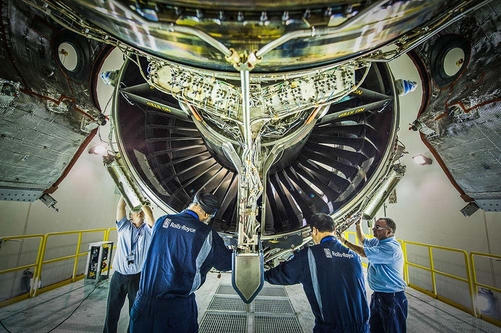 Professional Industrial photography of aerospace air craft engine in Singapore | Corporate photographer, Tuckys