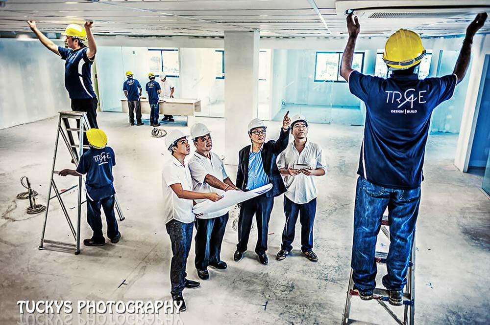 construction industrial photography for design and build architecture firm, Tuckys photography