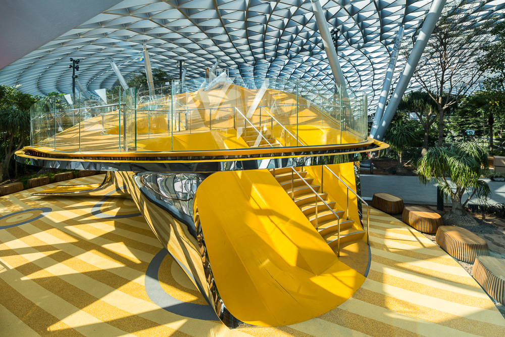 Architecture photoshoot for award winning playground in Jewel, singapore Changi Airport, by Tucky